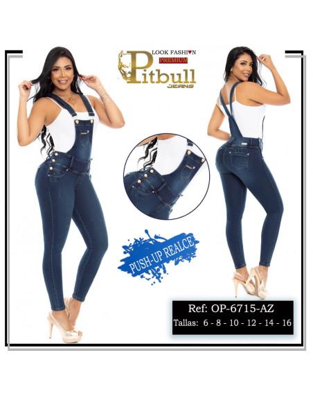 overol pitbull azul op6715