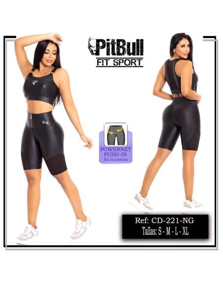 conjunto deportivo pitbull negro cd221