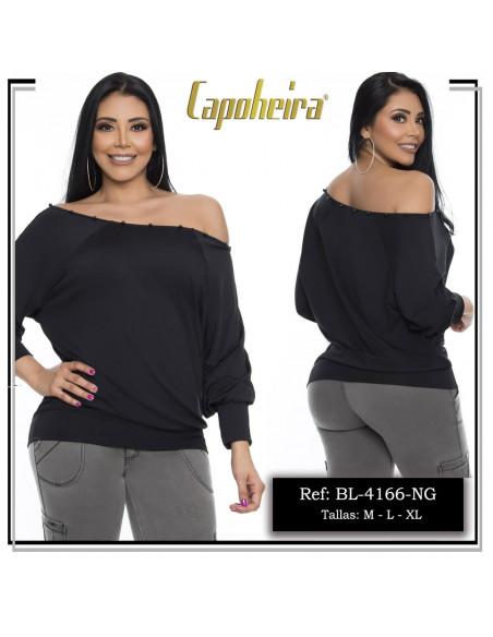 blusa sexy capoheira negra bl4166